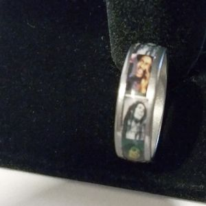 New Bob Marley photo ring size 7 1/2 & 12